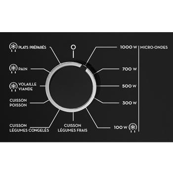 Sauter micro-ondes programmes et accès direct