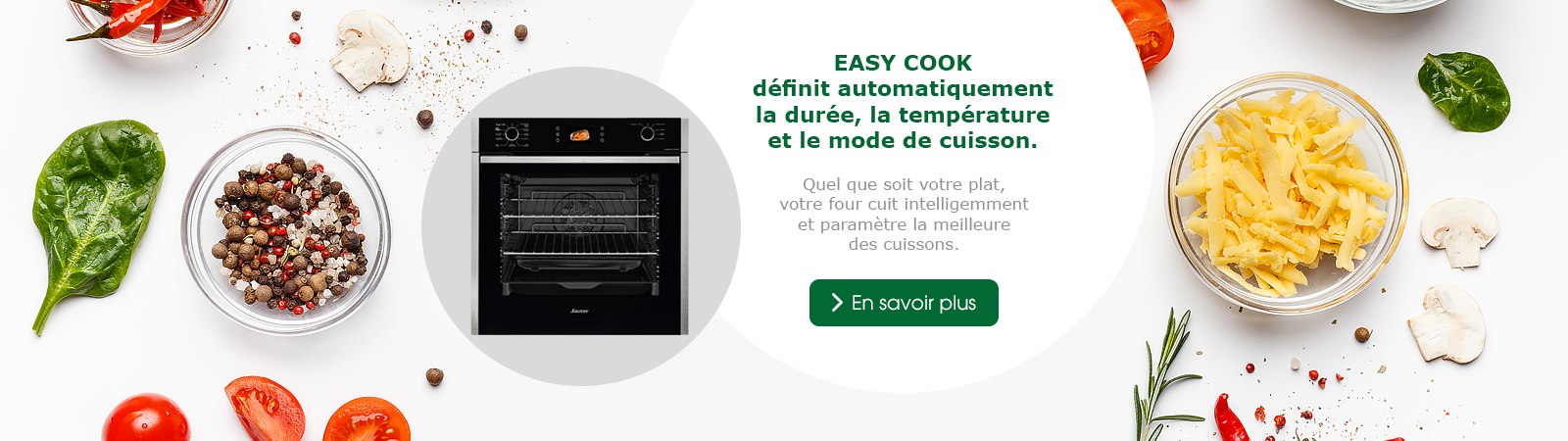 Sauter - fonction easy cook - FOURS