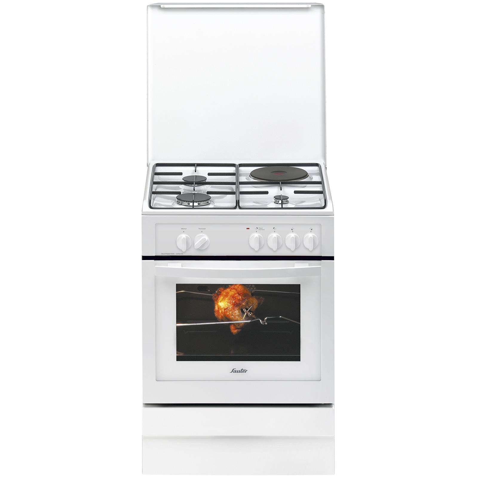 Comparatif Plaque Mixte Induction Gaz cuisinière mixte scm1010w - sauter électroménager